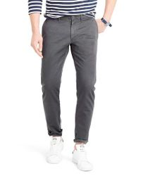 J.Crew - Gray J.crew 484 Slim Fit Stretch Chino Pants for Men - Lyst
