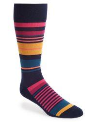 Nordstrom Blue Multi Stripe Socks for men