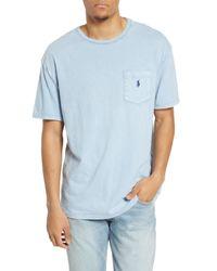 Polo Ralph Lauren Blue Slub Pocket T-shirt for men