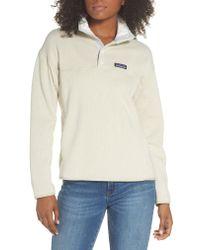 Patagonia White Lightweight Better Sweater Fleece