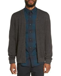 Calibrate | Gray V-neck Zip Cardigan for Men | Lyst