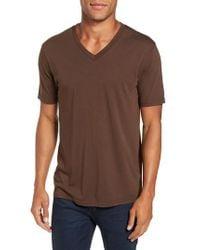 Goodlife - Brown V-neck T-shirt for Men - Lyst
