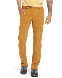 Prana Brown Stretch Zion Roll Pants for men