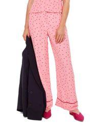 TOPSHOP Pink Sugar Spot Print Trousers