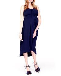 Ingrid & Isabel Blue Ingrid & Isabel High/low Maternity Dress
