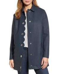 Hunter - Blue Refined Perforated A-line Coat - Lyst