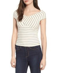 Lush - Multicolor Crisscross Off The Shoulder Top - Lyst