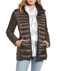 Vince Camuto - Gray Packable Down Jacket, Grey - Lyst