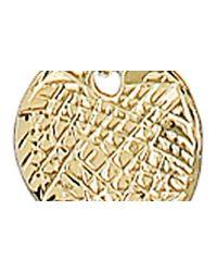 Panacea Metallic Discs Pendant Layered Necklace