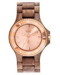 WeWood | Metallic Date Mb Wood Bracelet Watch | Lyst