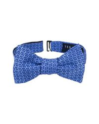 Ted Baker | Blue Charming Abstract Silk Bow Tie for Men | Lyst