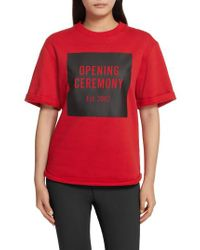 Opening Ceremony Red Logo Sweatshirt Tee