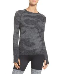 Hpe - Gray Cross X Seamless Camo Top for Men - Lyst