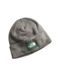 bc61ac7d Lyst - The North Face Felted Logo Beanie in Gray for Men