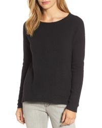 Caslon Black Caslon Back Zip High/low Sweater