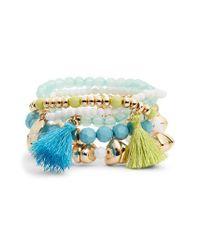 Lilly Pulitzer - Multicolor Lilly Pulitzer Surf Seafari 5-piece Stretch Bracelet Set - Lyst