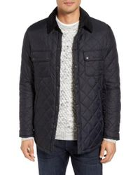 Barbour Black 'akenside' Regular Fit Quilted Jacket for men