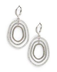 Judith Jack - Metallic Orbital Crystal Drop Earrings - Lyst