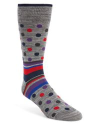 Bugatchi - Multicolor Dot & Stripe Socks for Men - Lyst