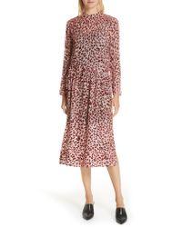Rag & Bone Pink Gia Devore Leopard Spot Dress