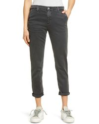 AG Jeans Multicolor Caden Crop Twill Trousers