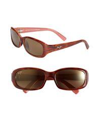 Maui Jim Black Punchbowl 54mm Polarizedplus2 Rectangular Sunglasses