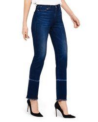 Ayr Blue The Aloe High Waist Straight Leg Jeans