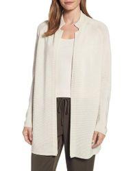 Eileen Fisher Natural Long Tencel Knit Jacket