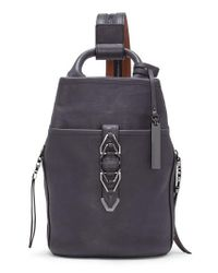 Vince Camuto   Black Small Luk Adjustable Leather Backpack   Lyst