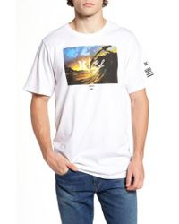 Hurley White Clark Little - King Kamehameha Graphic T-shirt for men