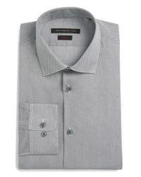 John Varvatos   Blue John Varvatos Star Usa Slim Fit Geometric Dress Shirt for Men   Lyst
