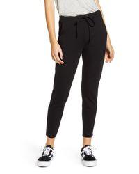 1822 Denim Black Ponte Jogger Pants