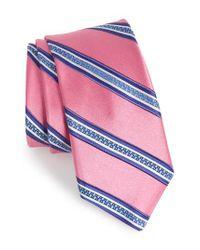 Ted Baker Pink Stripe Silk Tie for men