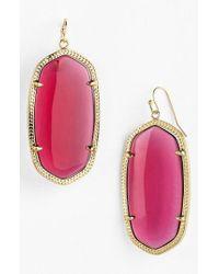 Kendra Scott Pink Danielle - Large Oval Statement Earrings