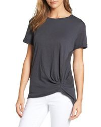 Caslon | Gray Knotted Tee | Lyst