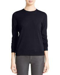 Burberry Black Brit Check Patch Merino Sweater