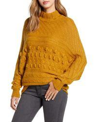 Caslon Multicolor Caslon Textured Mock Neck Sweater