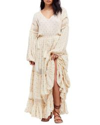 Free People - White Sada Maxi Dress - Lyst
