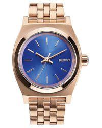 Nixon   Metallic 'the Small Time Teller' Bracelet Watch   Lyst