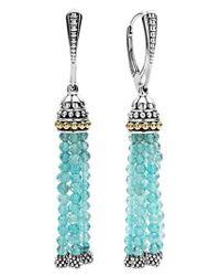 Lagos - Blue Caviar Icon Tassel Drop Earrings - Lyst