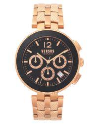 Versus  Multicolor Versace Logo Chronograph Bracelet Watch for men