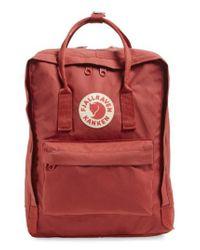 Fjallraven - Red 'kanken' Water Resistant Backpack - Lyst