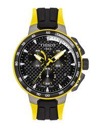 Tissot Black T-race Cycling Tour De France 2020 Chronograph Silicone Strap Watch for men