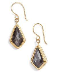 Anna Beck - Metallic Grey Sapphire Kite Earrings - Lyst