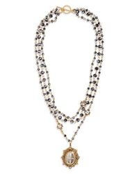 Virgins, Saints & Angels - Metallic San Benito Magdalena Rosary Necklace (special Purchase) (nordstrom Exclusive) - Lyst