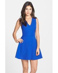 Felicity & Coco | Blue Back Cutout Fit & Flare Dress | Lyst