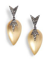 Alexis Bittar Metallic Lucite Drop Earrings