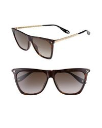 Givenchy Brown 58mm Flat Top Sunglasses - Dark Havana