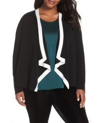 Eileen Fisher - Multicolor Angled Front Knit Jacket - Lyst