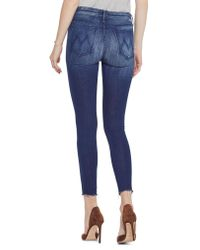 Mother Blue The Looker Fray High Waist Ankle Skinny Jeans